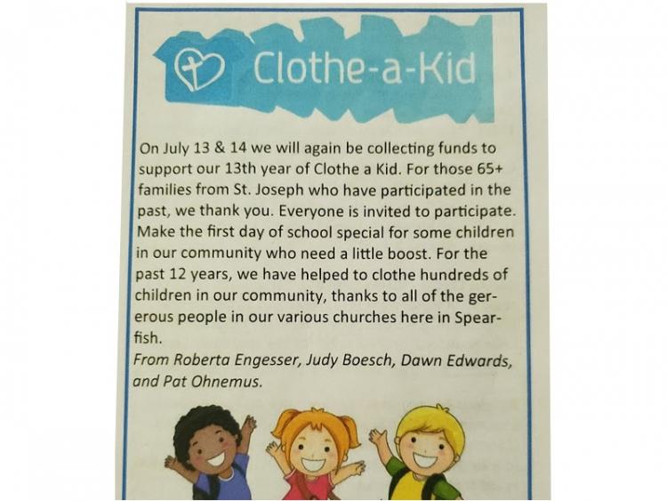 Clothe A Kid Donation