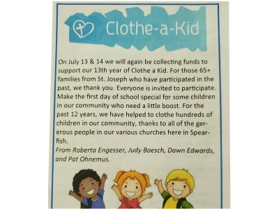 Clothe A Kid Donation